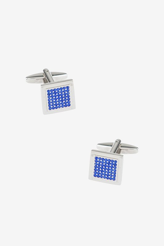 Many Facets Blue Cufflinks Photo (0)