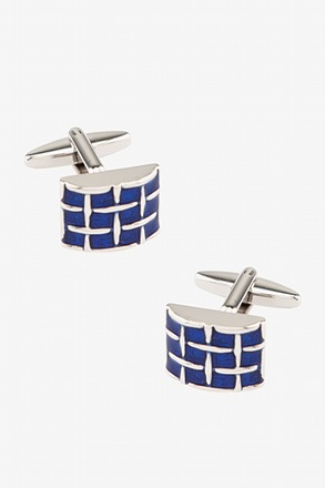 Polished Woven Rectangle Cufflinks