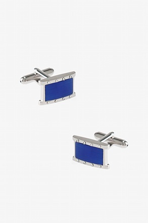 Rectangular Bejeweled Gem Cufflinks