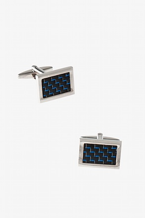 _Rectangular Kaleidoscope Cufflinks_