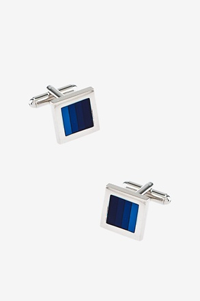 Simple Stripe Square Cufflinks
