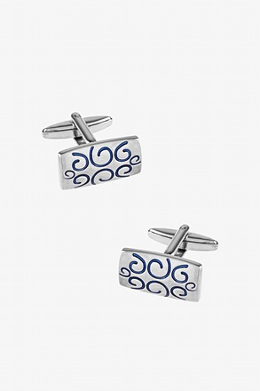 Solid Decorated Rectangle Cufflinks