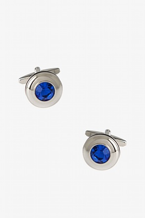 Solid Round Gem Cufflinks