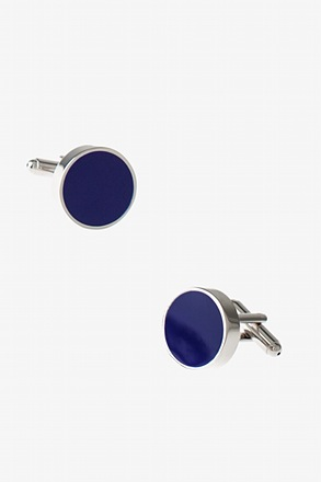 Solid Round Thick Cufflinks