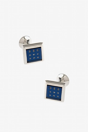 Three Across Gem Cufflinks