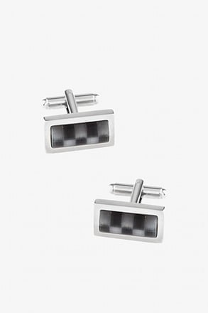 Translucent Horizontal Check Cufflinks