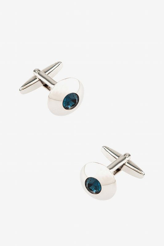 Wide Embellished Dome Cufflinks Photo (0)