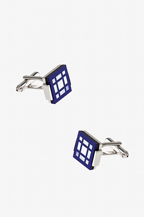 _Window Square Blue Cufflinks_
