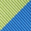 Blue Microfiber Blue & Lime Stripe Self-Tie Bow Tie