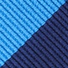 Blue Microfiber Blue & Navy Stripe Self-Tie Bow Tie