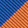 Blue Microfiber Blue & Orange Stripe Self-Tie Bow Tie