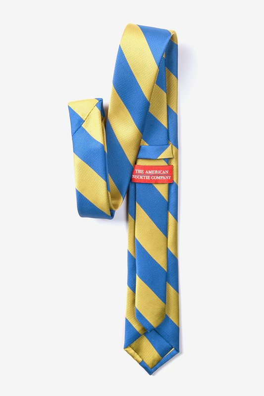 Blue & Gold Stripe Skinny Tie Photo (2)