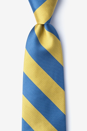 _Blue & Gold Stripe Tie_