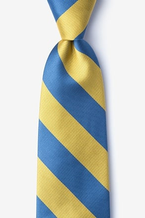 Blue & Gold Stripe Tie
