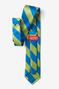 Blue & Lime Stripe Extra Long Tie