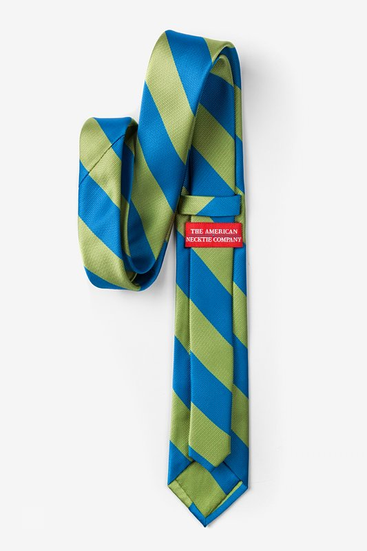 Blue & Lime Stripe Tie For Boys Photo (1)