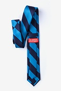 Blue & Navy Stripe Skinny Tie Photo (1)