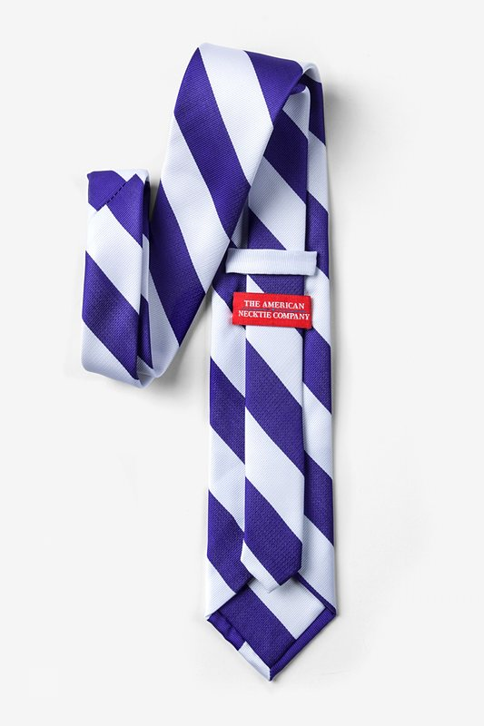 Blue & White Stripe Extra Long Tie Photo (1)