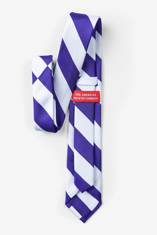 Blue & White Stripe Skinny Tie