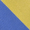 Blue Microfiber Blue And Gold Stripe Extra Long Tie