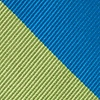 Blue Microfiber Blue And Lime Stripe Extra Long Tie