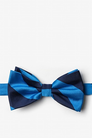 Blue And Navy Pre-Tied Bow Tie