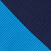 Blue Microfiber Blue And Navy Stripe Extra Long Tie