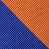 Blue Microfiber Blue And Orange Stripe Extra Long Tie