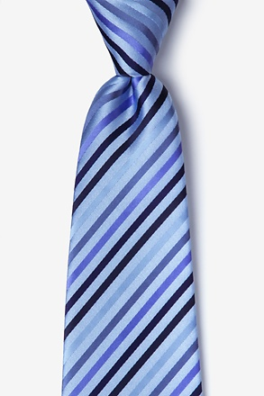 Blue Tonal Stripe Extra Long Tie