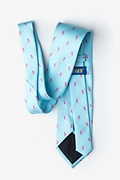 Breast Cancer Ribbon Blue Extra Long Tie Photo (1)