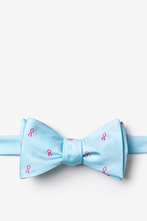 Breast Cancer Ribbon Self-Tie Bow Tie