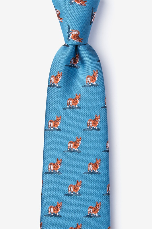 Corgi Dogs Blue Tie Photo (0)