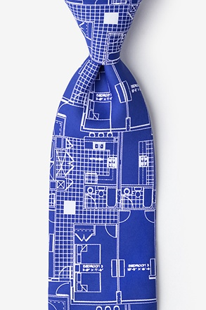 _House Blueprint Tie_