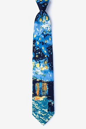Night Stars on River by - Van Gogh Tie