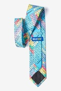 Periodic Table Blue Extra Long Tie