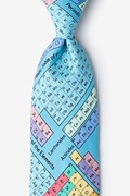 Blue Microfiber Periodic Table Extra Long Tie