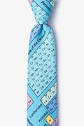 Blue Microfiber Periodic Table Skinny Tie