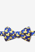 Blue Microfiber Rubber Duck Self-Tie Bow Tie