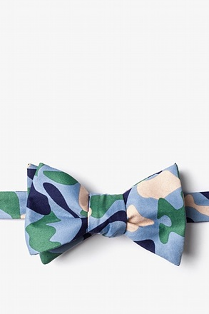 _Street Camo Blue Self-Tie Bow Tie_