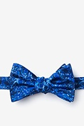 Blue Microfiber Syphilis Butterfly Bow Tie
