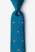 Blue Microfiber Umbrellas Extra Long Tie
