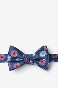 Blue Microfiber Zika Virus Self-Tie Bow Tie