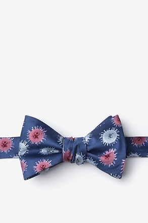 _Zika Virus Blue Self-Tie Bow Tie_