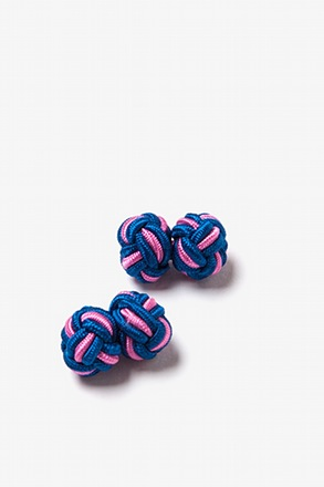 Blue and Pink Knot Cufflinks