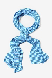 Blue Polyester Candy Stripe Scarf