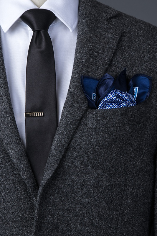 Ernest Blue Pocket Square Photo (2)