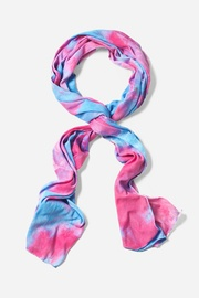 Blue Polyester Groovy Scarf