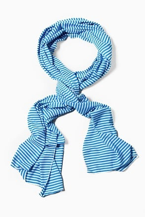 Mens Candy Stripe Blue Scarf