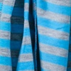Blue Polyester Mens Traveling Stripe Scarf