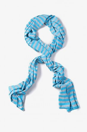 Mens Traveling Stripe Blue Scarf